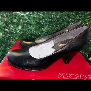 Aerosoles Major Role - Black Leather 002